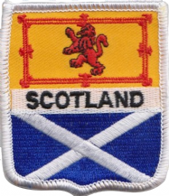Scotland Lion Rampant & Saltire Embroidered Badge (a235)